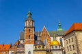 King Sigismund's Cathedral and Chapel, Royal Castle at Wawel Hill, Krakow Royalty Free Stock Photo