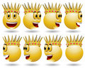 King smile web icon animation Stock Photos