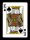 King of spades playing card, Royalty Free Stock Photo