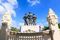 King statue at museum chiang mai thailand Royalty Free Stock Images