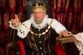 King swearing an oath Royalty Free Stock Photo