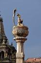 King yoganarendra malla bronze statue patan nepal kathmandu Stock Images