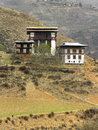 Kingdom of bhutan buildings near thimpu in the Royalty Free Stock Photography