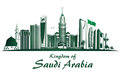 Kingdom of saudi arabia famous buildings editable vector illustration Stock Photography