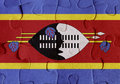 Kingdom of Swaziland flag puzzle