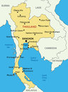 Kingdom of thailand map vector eps Stock Images