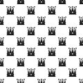 Kingly crown pattern vector