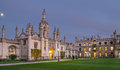 Kings college cambridge entrance to in at dusk Stock Images