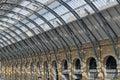 Kings cross station image taken of railway roof england Stock Photos