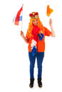 Kings day in holland girl celebrating Royalty Free Stock Image