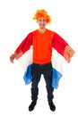 Kings day in holland young man celebrating Stock Image