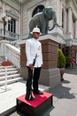 Kings guard in grand royal palace bangkok thailand march phra borom maha ratcha wang on march was the Royalty Free Stock Images