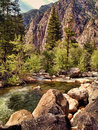 Kings River in Kings Canyon Royalty Free Stock Photo