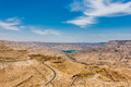 Kings way desert road dead sea jordan in Stock Images