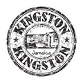 Kingston rubber stamp black grunge with the name of city the capital of jamaica Royalty Free Stock Photography