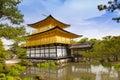 Kinkaku-ji, the Golden Pavilion, The famous buddhist temple in Kyoto, Japan Royalty Free Stock Photo