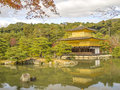 Kinkaku ji the golden pavilion kyoto japan kinkakuji temple or temple in autumn Royalty Free Stock Photos