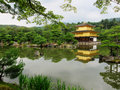 Kinkaku ji golden pavillion kyoto japan Royalty Free Stock Photography