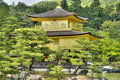 Kinkaku ji golden temple kyoto of the pavilion also known as rokuon is a zen buddhist in in japan Stock Photos