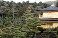 Kinkaku-ji (o pavilh�o dourado) Foto de Stock Royalty Free