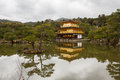 Kinkaku ji temple in kyoto of the golden pavilion is a zen buddhist japan photo taken on april Stock Photos