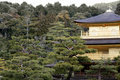 Kinkaku -kinkaku-ji (het Gouden Paviljoen) Royalty-vrije Stock Foto