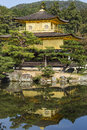 Kinkakuji the golden pavillion kyoto japan with detail Royalty Free Stock Images