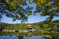 Kinkakuji the golden pavillion kyoto japan with detail Stock Image