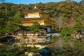 Kinkakuji temple golden in kyoto japan Stock Photos
