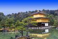 Kinkakuji temple golden pavilion kyoto japan Stock Photo