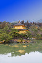Kinkakuji temple golden pavilion kyoto japan Royalty Free Stock Images