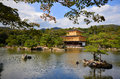 Kinkakuji temple the golden pavilion in kyoto japan Royalty Free Stock Photo