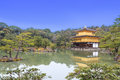 Kinkakuji temple the golden pavilion in kyoto japan Stock Photos