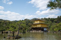 Kinkakuji temple the golden pavilion kyoto japan Royalty Free Stock Images