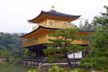 Kinkakuji temple the golden pavilion in kyoto japan Royalty Free Stock Images
