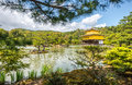 Kinkakuji temple the golden pavilion in kyoto japan a view of on a beautiful day spring Stock Photography