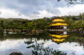 Kinkakuji temple on january kyoto japan the golden pavilion in kyoto japan world heritage site Stock Photos