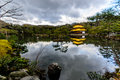 Kinkakuji temple on january kyoto japan the golden pavilion in kyoto japan world heritage site Royalty Free Stock Photography