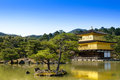 Kinkakuji temple in kyoto japan the famous golden pavilion Stock Image