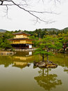 Kinkakuji temple kyoto japan the famous golden pavillion of Stock Photography
