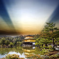 Kinkakuji temple in kyoto japan the golden pavilion Stock Images