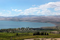 Kinneret lake israel view of and galilee landscape nothern Stock Image