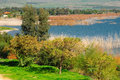 Kinneret lake view of and galilee landscape nothern israel Stock Image
