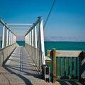 Kinneret metal mooring line on the galilee sea instagram effect Royalty Free Stock Photo