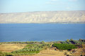 Kinneret mountain and lake in israel Stock Images