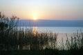 Kinneret sunrise on the lake israel Royalty Free Stock Images