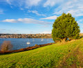Kinsale harbour ireland view of town and cork county munster Stock Image