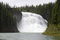 Kinuseo falls is on the murray river tumbler ridge british columbia it is taller than niagara Stock Photography