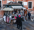 Kiosk with Souvenirs in Venice Stock Photography