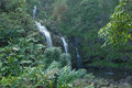 Kipahulu waterfall hawaii haleakala national park maui Stock Photography